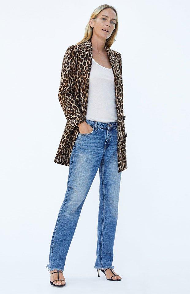 Abrigo de Zara de la tendencia animal print