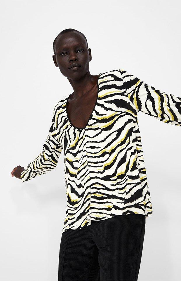 Camisa de cebra de Zara