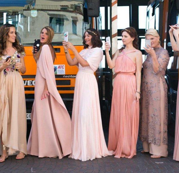 Damas de honor en la boda de Giovanna Battaglia