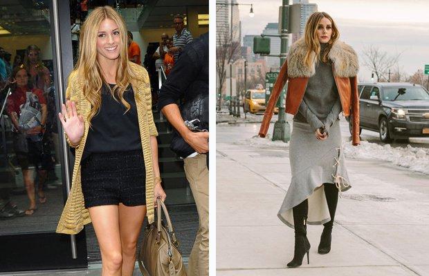 el antes y después de las bloggers. Olivia Palermo