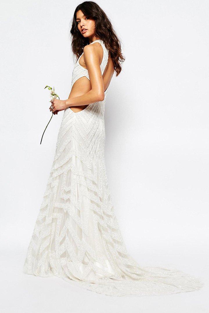 Vestido de novia con aberturas de Asos