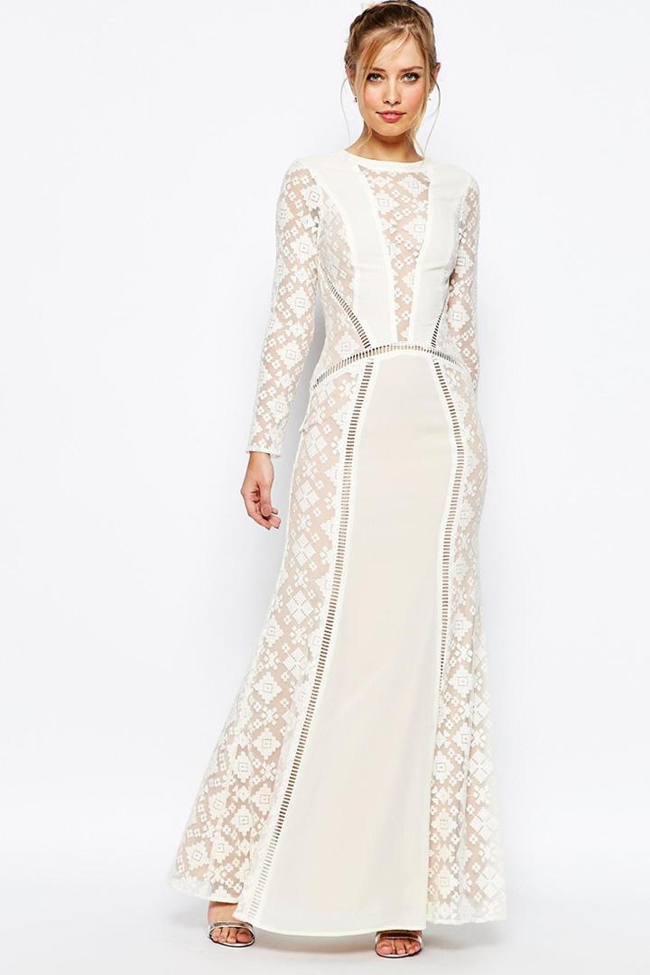 Vestido de novia de encaje de Asos