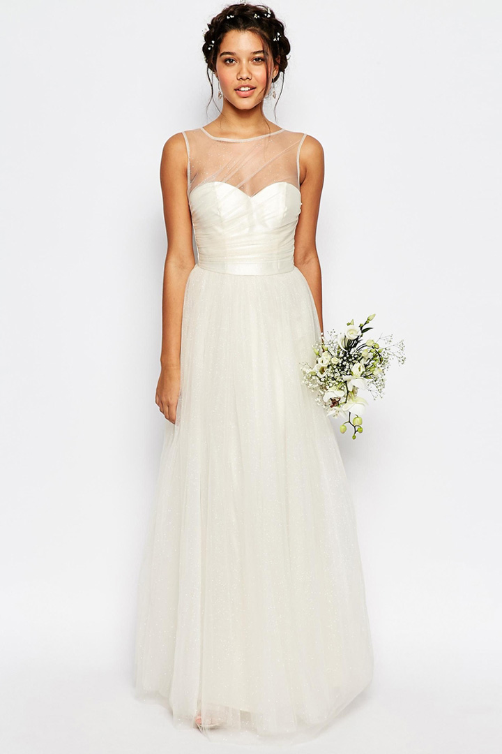 Vestido de novia con tul de Asos