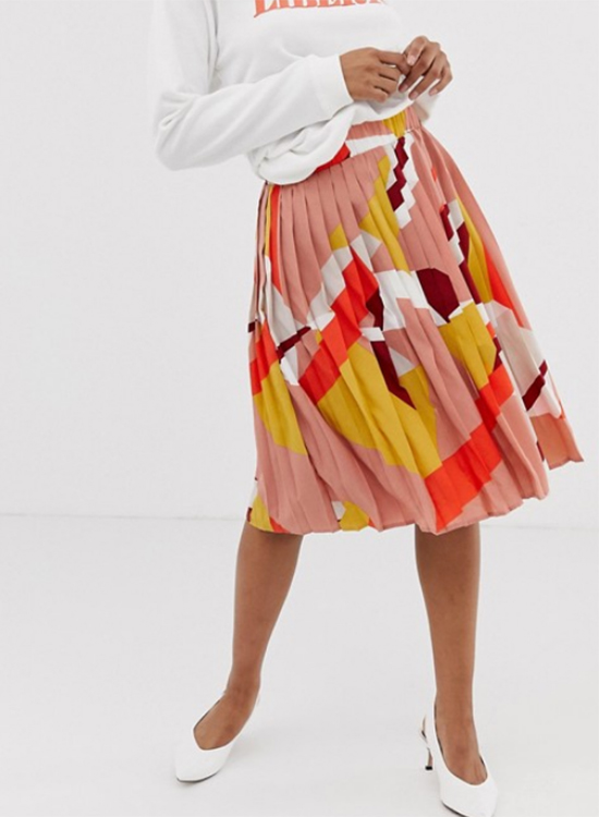 Falda plisada de Asos Outlet
