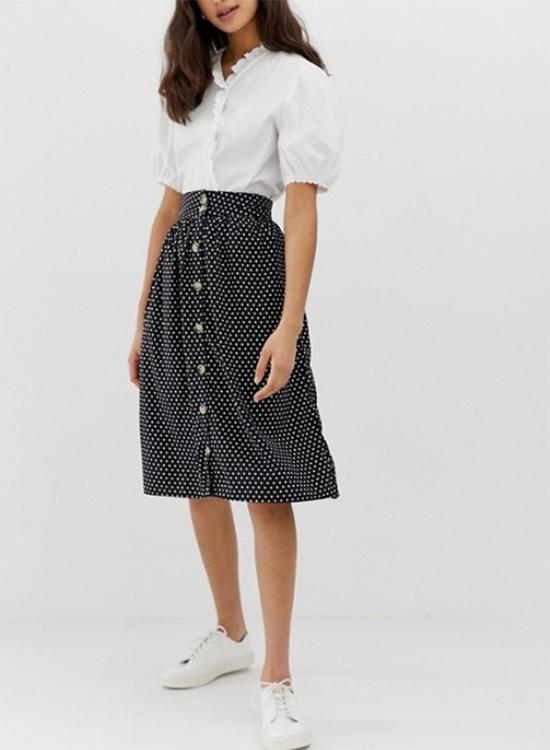 Falda de lunares de Asos Outlet