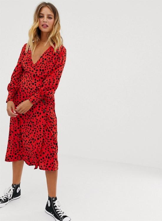 Vestido rojo de Asos Outlet
