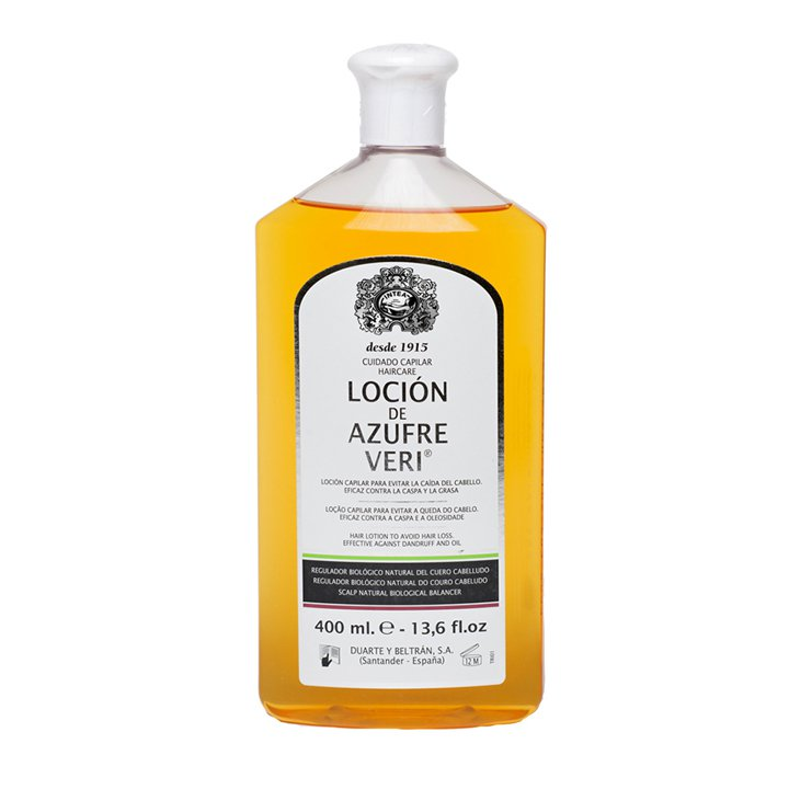 Loción anti-caída de Azufre Veri: productos caída del cabello