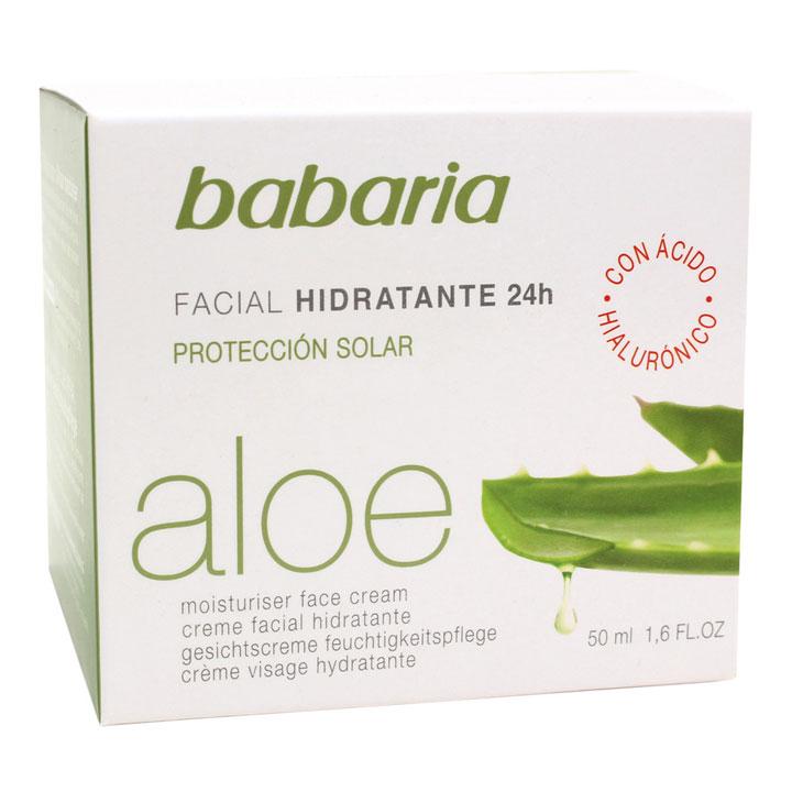 Crema facial Hidratante Aloe Vera de Babaria: productos prolongar bronceado