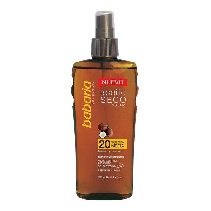 Spray Aceite Seco de Babaria: protectores solares que triunfan