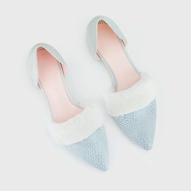 Bailarinas de Momoc Shoes con borreguito