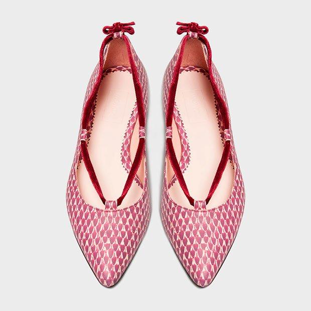 Bailarinas granate de Momoc Shoes