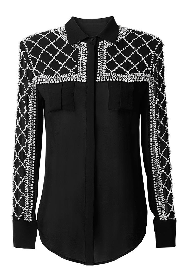 Camisa de seda de Balmain para H&M