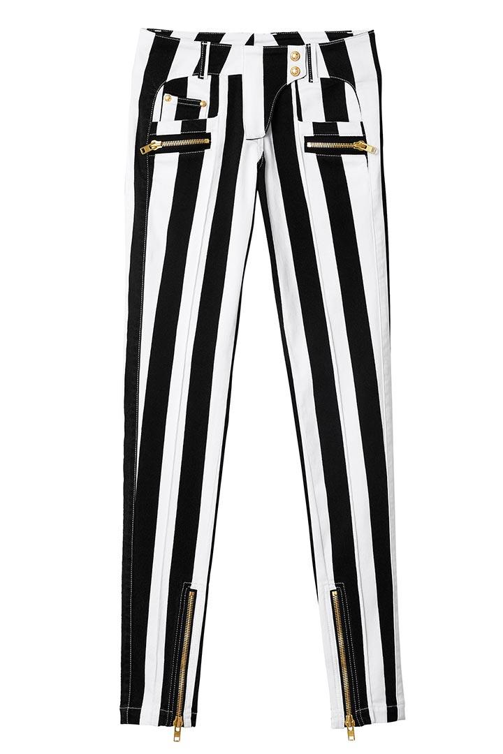 Pantalones de rayas de Balmain para H&M
