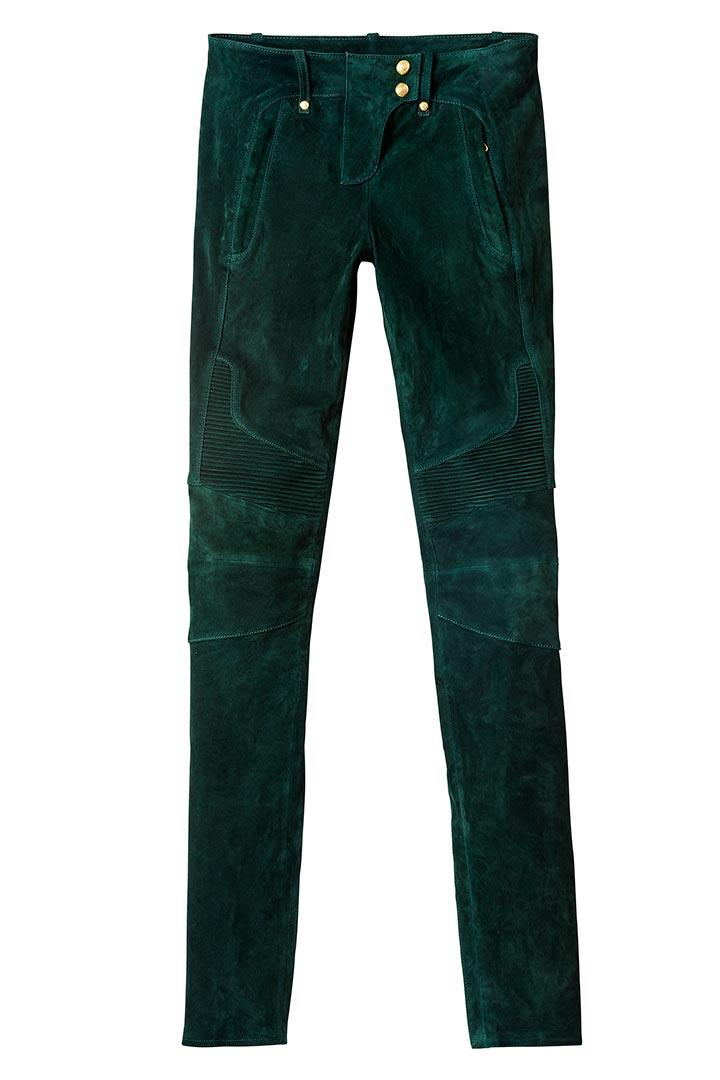 Pantalón verde de ante