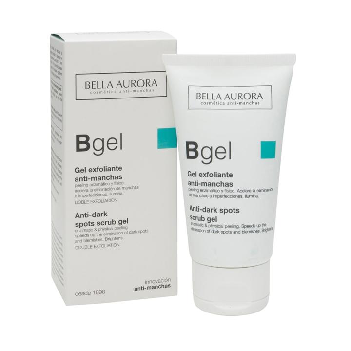 Gel exfoliante suave anti-manchas de Bella Aurora: Productos pieles con acné