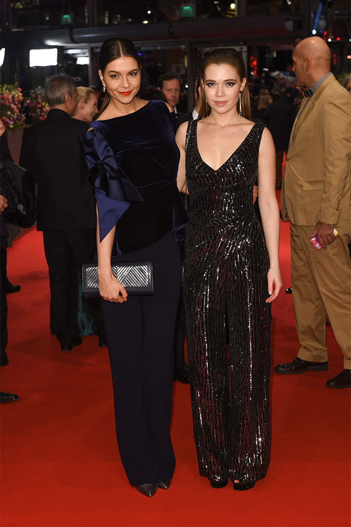 Susan Hoecke y Farina Flebbe en la Berlinale 2018