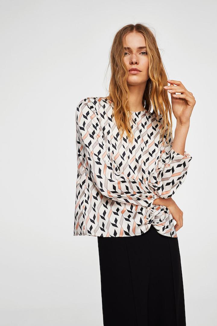 blusa estampada nudo mango ropa