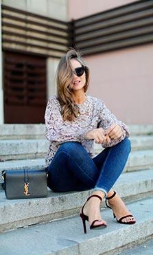 blusa encaje lady addict