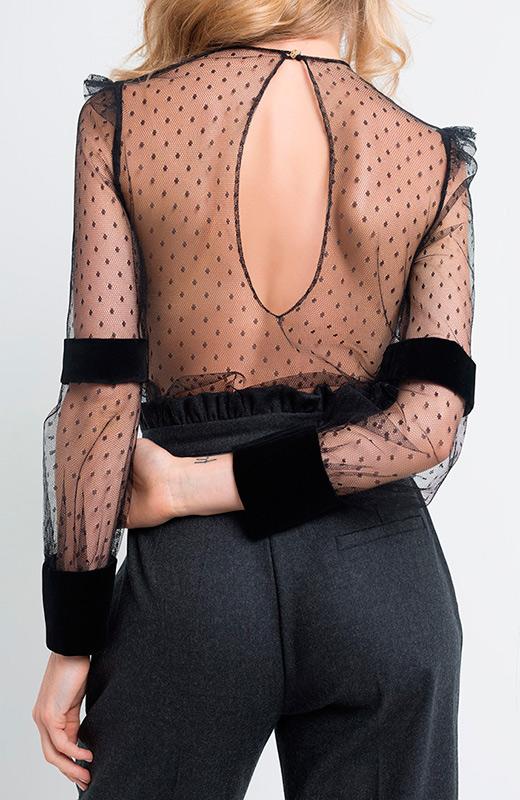 Blusa transparente de Olivia de Gala