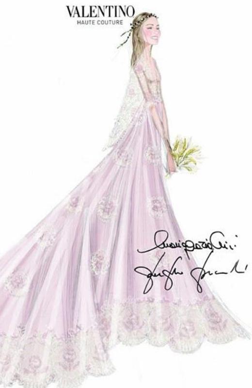 bodas reales boceto vestido novia