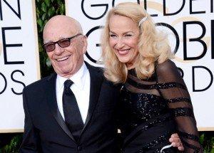 Rupert Murdoch anuncia su compromiso con Jerry Hall