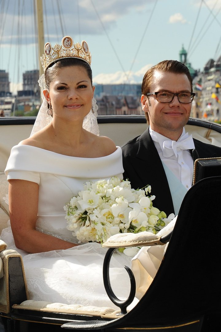 victoria de suecia de diseño sueco los vestidos de las princesas, tiara