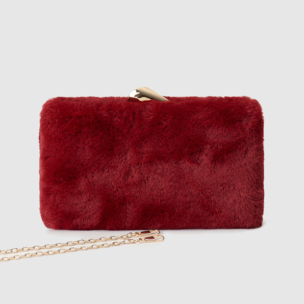 Bolso de fiesta con pelo rojo