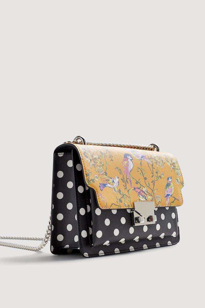 bolso pequeño combinado mango ropa