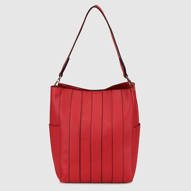 Bolso shopper rojo de El Corte Inglés