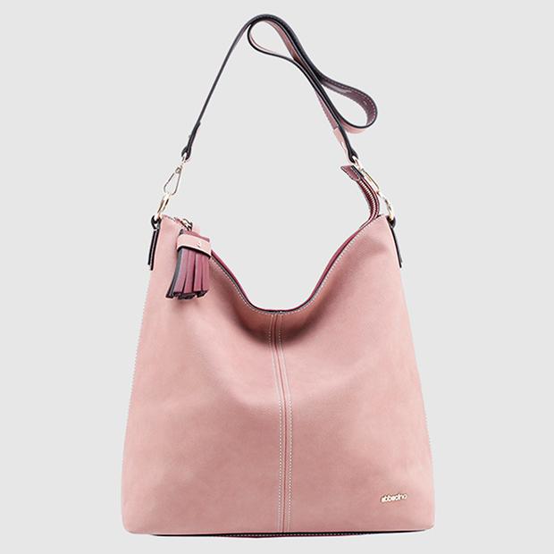 Bolso shopper rosa claro