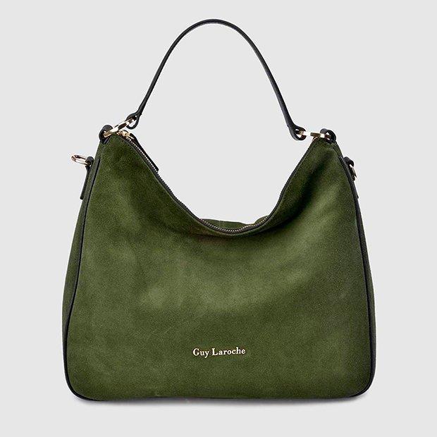 Bolso shopper verde caqui