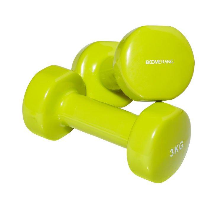 Set de 2 pesas vinilo 3 kg de Boomerang: prendas accesorios deporte casa