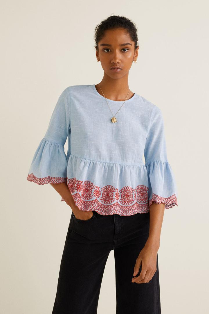 a0b70eaa7e52 Panel bordado: blusas para verano 2018