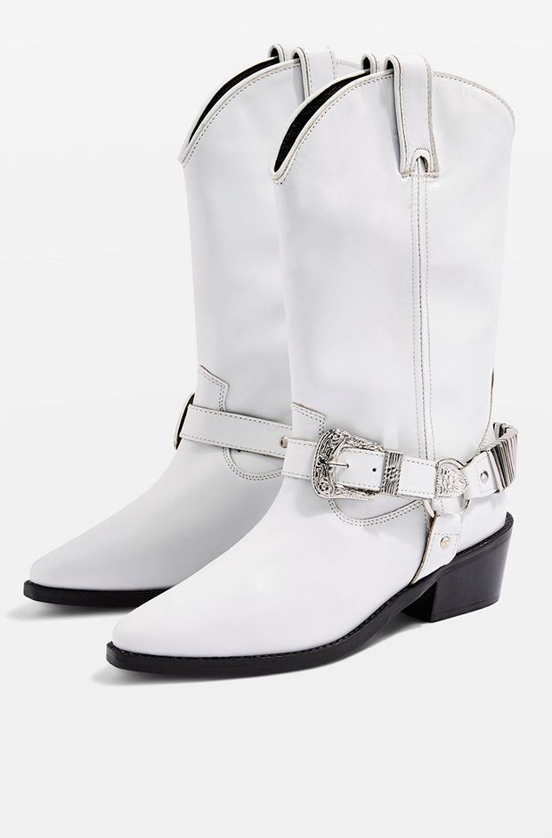 Botas cowboy blancas