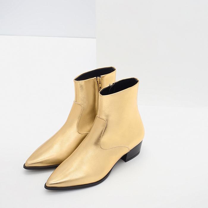 Botín dorado Zara