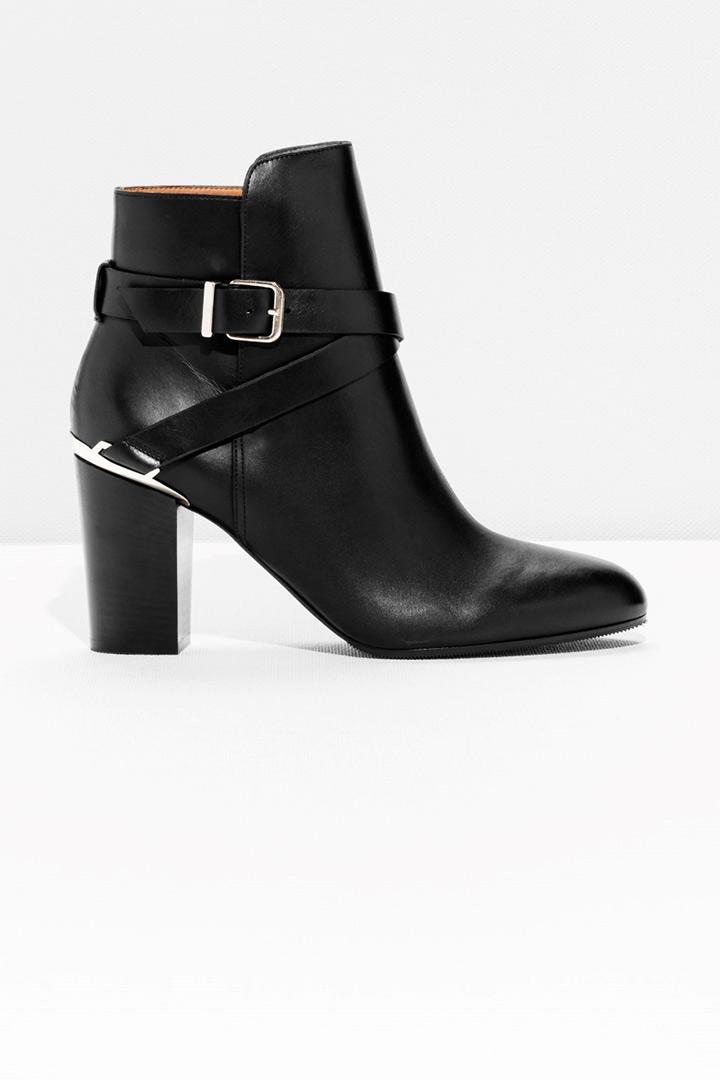 botines negros con tacón