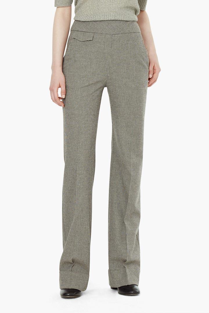 Pantalones anchos de cuadros