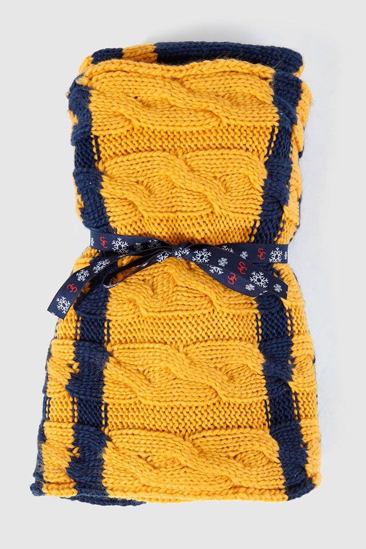 bufanda amarilla de el corte inglés