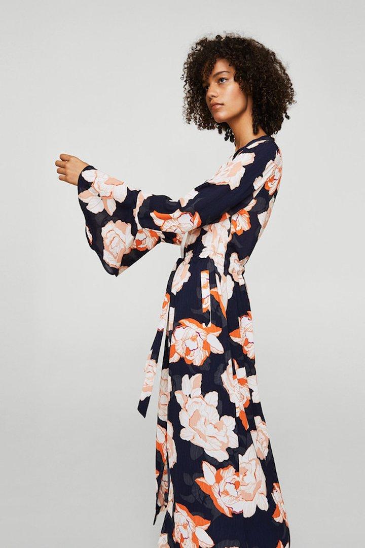 caftan estampado floral mango ropa