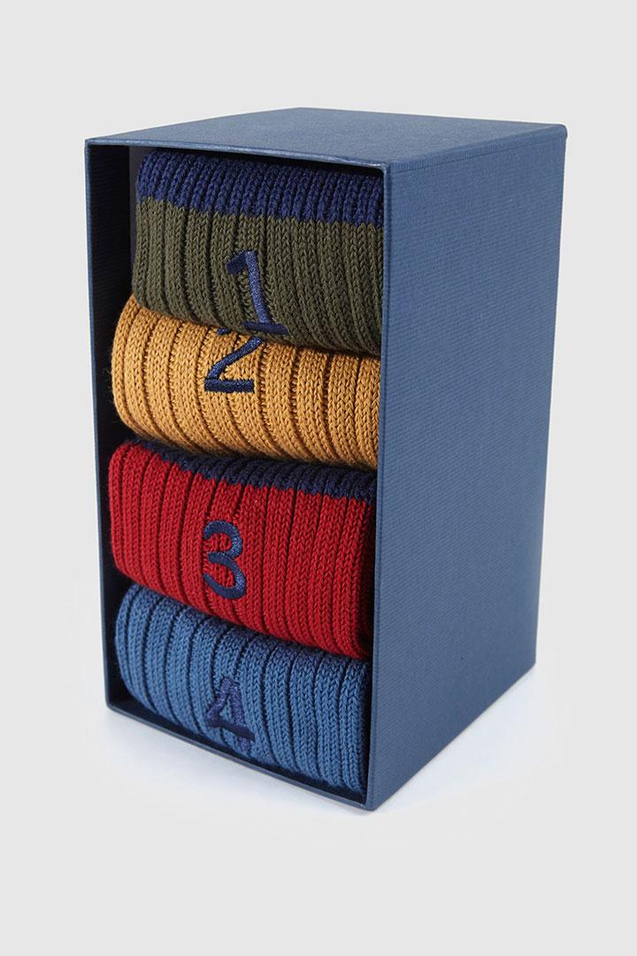 pack de 4 calcetines de colores de hackett