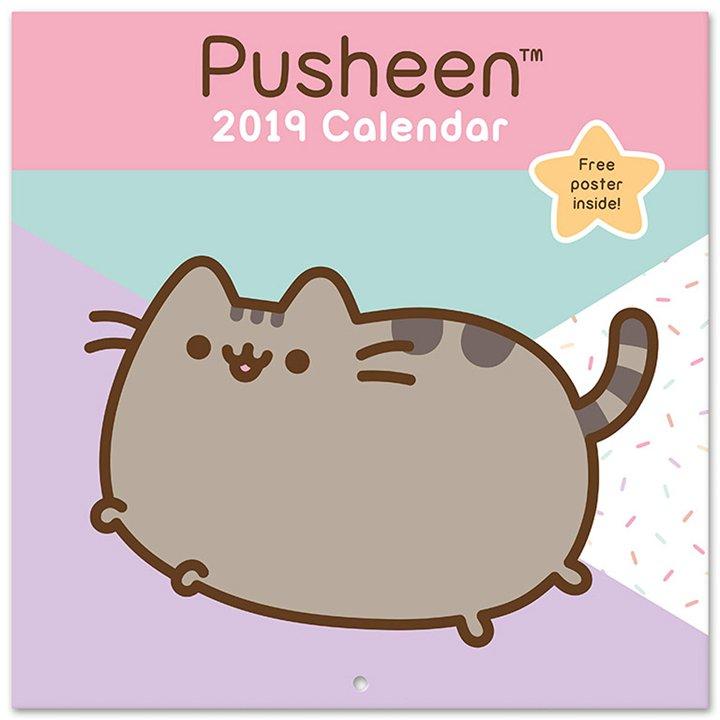 Calendario 2019 de Pusheen the Cat: piezas cumplir propósitos