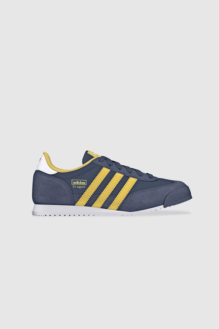 Zapatillas de cordones Adidas con rayas en amarillo