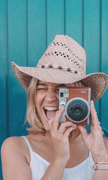La cámara de fotos de los influencers
