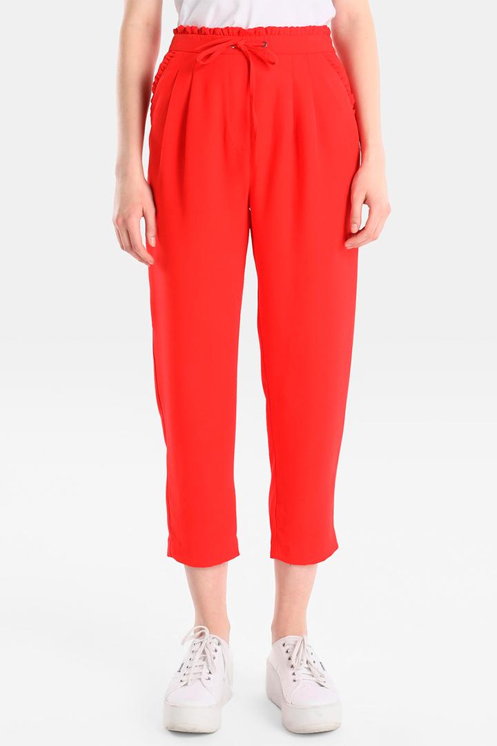 Pantalón fluido rojo de el Corte Inglés