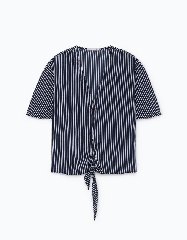 Camisa con lazada de Lefties
