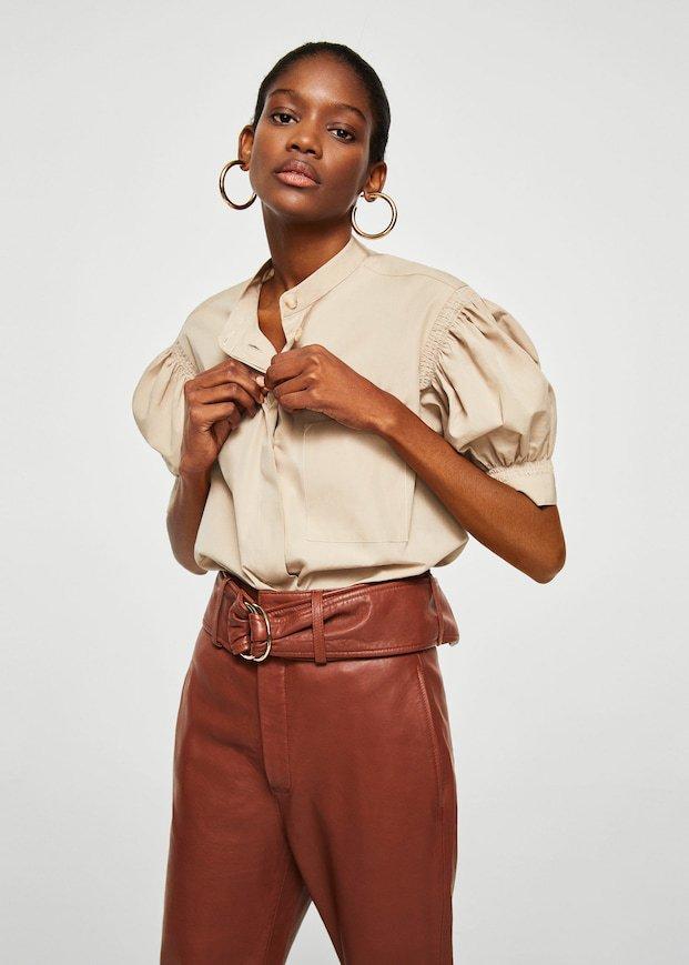 camisa algodón orgánico mango ropa