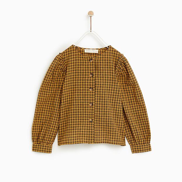 Camisa de cuadros de Zara Kids invierno 2018