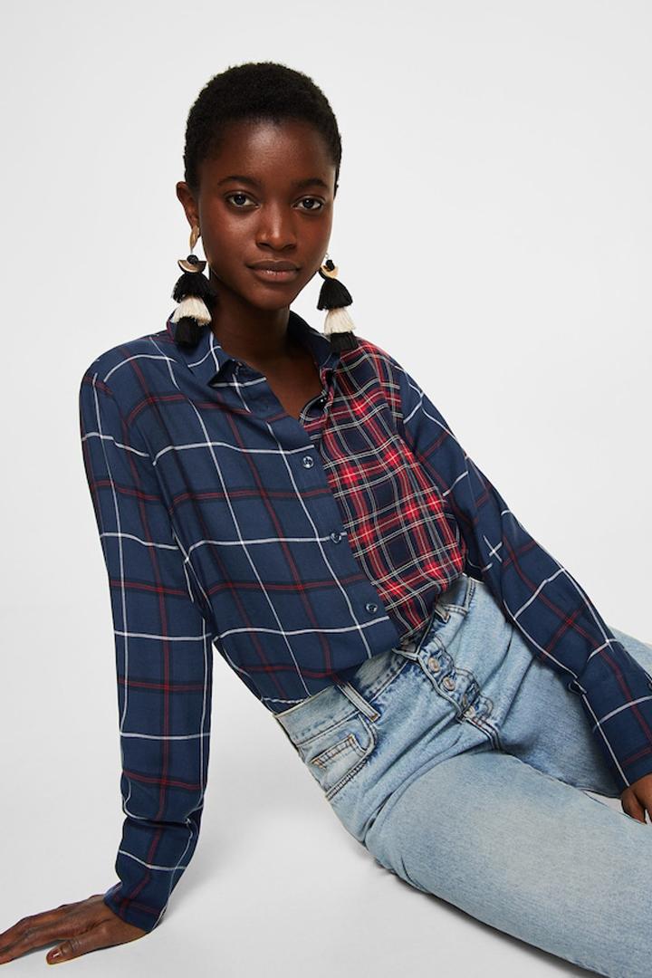 camisa estampados combinados mango ropa