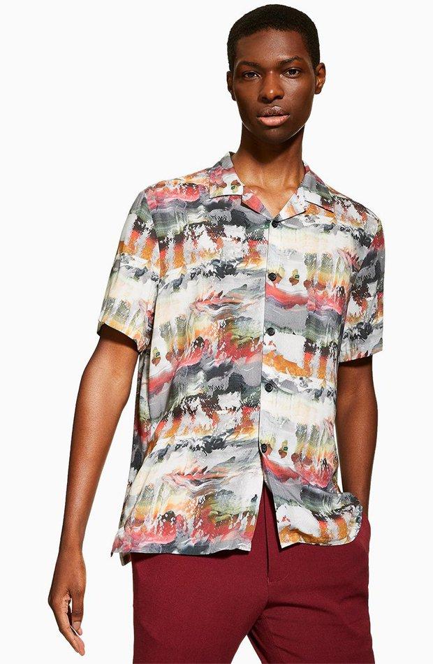 Camisa tie-dye de Topman: tendencias masculinas 2019