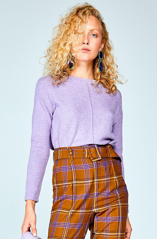 Camiseta jaspeada de color lila